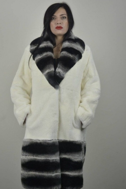 Real Rex Fur coat with collar