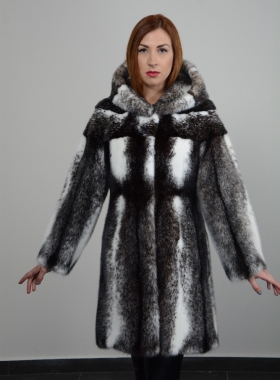 BLACK CROSS MINK FUR COAT