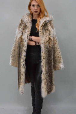 Lynx Fur Coat with Hood