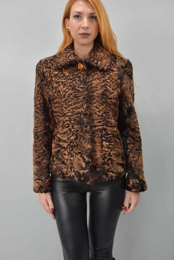 High quality Swakara fur Jacket